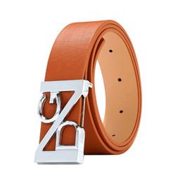 China Belt men leather 2018 adiustable genuine leather with pin buckle brown unisex waist belt women Designer mens belts luxury cheap men brown leather belts suppliers