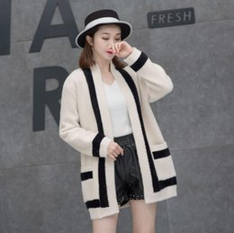 61d0d78a03 Autumn and winter new ladies cardigan jacket in the long section of  imitation water velvet coat cardigan sweater women s jacket fashion warm