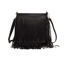 $enCountryForm.capitalKeyWord UK - 2018 Hot Sale Women Fashion Tassel Fringe Handbags Trend PU Leather Shoulder Bag Ladies Black Leather Crossbody Bags Bolsa Feminina DHL