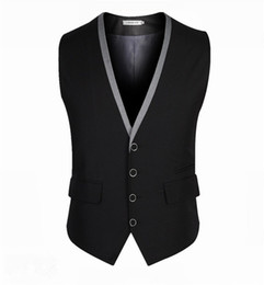 Wedding Waistcoat for men designs online shopping - New Design Colete Social Black And Silver Suit Vests For Men Slim Fit Men Wedding Prom Party Waistcoats Custom Made X XL