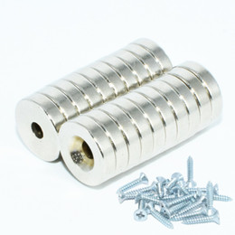 $enCountryForm.capitalKeyWord Australia - NdFeB Countersunk Magnet Diameter 12mm With 3mm 4mm 5mm Screw Hole Neodymium Rare Earth Permanent Magnetic 20pcs