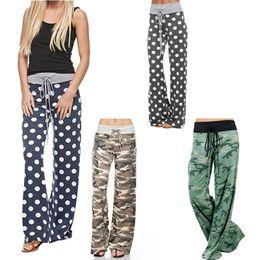 $enCountryForm.capitalKeyWord Canada - Casual Camouflage Print Women's Drawstring Trousers Elastic Waist Wide Leg Pants Hot Sale Fashion Girls Loose Pants Femme Sexy Plus Size