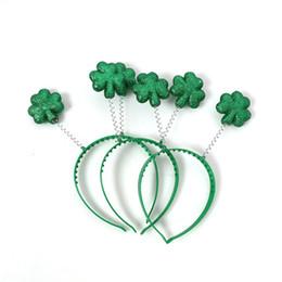 97935bc4 Зеленый трилистник оголовье пластиковые украшения для волос Ирландия St  Patricks день вечеринок дизайнерские ободки завод прямые 2 4wt чч