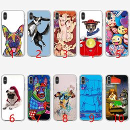 $enCountryForm.capitalKeyWord NZ - Christmas Outfit XMAS PUG Dog Soft Silicone TPU Phone Case for iPhone 5 5S SE 6 6S 7 8 Plus X XR XS Max Cover