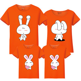 749a4189 Father Son Matching T Shirts Canada - Cartoon Rabbit Family Look Father  Mother Daughter Son Shirts