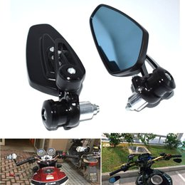 """Levers Universal NZ - For 7 8"""""""" 22mm handlebar universal double motorcycle rearview mirror handle lever end side rearview mirror for Kawasaki ZX6R ZX6RR ZX636 ZX"""