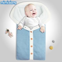 $enCountryForm.capitalKeyWord Canada - Winter Thermal Baby Boys Sleeping Bag Envelope For Newborns Swaddle Wrap Knit Stroller Blankets Autumn Girls