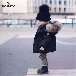 4t Boys Hoodie Canada - 2018 New Fashion Baby Boys Jackets Fur collar Autumn Winter Jacket Kids Warm Hoodies Children's Outerwear Coat Boys Girls Clothe Y1891308