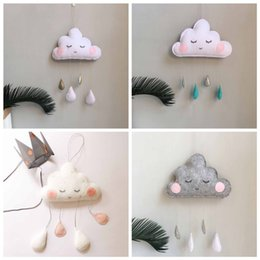 PhotograPhy decor online shopping - Nordic Felt Cloud Raindrops Garland Baby Room Wall Decorations Tents Decor Clouds Smiles Photography Props Kid Room Decoration