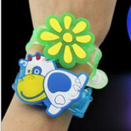 Boys light watches online shopping - Lighted Stick Wrists Watch Gift Children Cartoon Small Toy Originality For Kids Flash Wrist Strap LED Light Sticks ly W