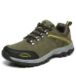 $enCountryForm.capitalKeyWord Canada - Men's Outdoor Trekking Shoes Waterproof Leather Hunting Mountain Shoes Camping Hiking Boots Male Sport