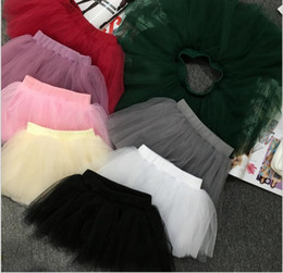 Red White Blue Tutus Australia - Wholesale New Arrival Tutus for Girls Pleated Mesh Yarn Solid Color Baby Kids Clothes Skirt for Sale