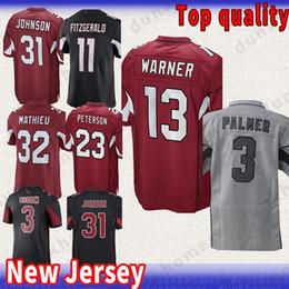 11 Larry Fitzgerald Arizona Cardinal jersey 13 Kurt Warner 31 David Johnson  3 Carson Palmer 32 Tyrann Mathieu Best Football Jerseys 451f77fc3