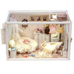 $enCountryForm.capitalKeyWord Canada - Novelty DIY Wooden Doll House Miniature Houses,Perfect Flower Married Miniature Dollhouse Assembling Toy for Wedding Gift Model