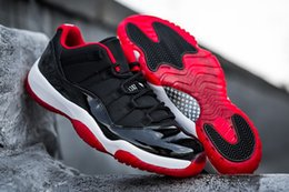 "Chinese  Cheap Kicks XI Low ""Bred"" Black Varsity Red White Free Shipping To USA With Shoes Box manufacturers"