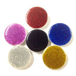 Phone oPP bag online shopping - 6 Color Universal Cell Phone Holder Glitter holder with OPP bag Stand Degree round Holder DHL Free