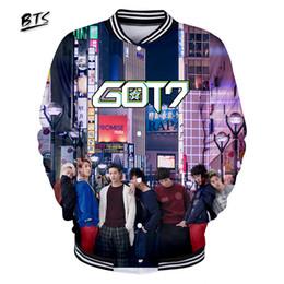 878c9cdb2ef BTS Hot Sale Women Clothes 2018 3D GOT7 Kawaii Jacket Long Sleeve Baseball  Jacket Casual Harajuku Hip Hop Print Plus Size Q0794