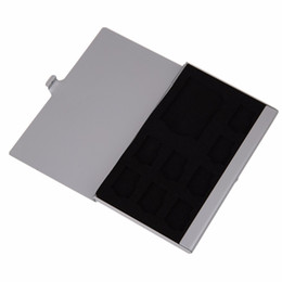 Chinese  High Quality Monolayer Aluminum for 1SD+ 8TF Micro for SD Cards Pin Storage Box Case Holder Anti-magnetic Anti-dust Shock-proof manufacturers