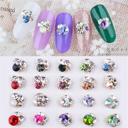 Wholesale 5Pcs Pack Nail Rhinestones D Crystal Gems Transparent Gradient Chameleon For Nail Decors DIY Jewelry UV Gel Manicure