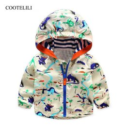 Boys Dinosaur Jacket Australia - COOTELILI Baby Boy Autumn Clothes Cool Dinosaur Toddler Boy Clothes Spring Children Active Outerwear & Coats For Girls 80-120cm