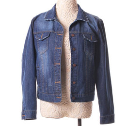 f2c76041148 Outerwear Women Denim Jacket Female S-4XL Vintage Cropped Short Denim Coat  Long-Sleeve Jeans Coat Cardigan Light Deep Blue