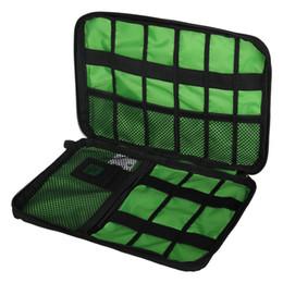Pen Wire Cable UK - Waterproof Storage Bag organizer USB data cable earphone wire pen power bank travel storage bag kit case digital gadget