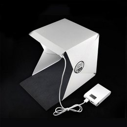 $enCountryForm.capitalKeyWord Australia - BrightBox Portable Mini Photo Studio With LED Light Folding Table Top Photography Kit Lighting Tent With 2pcs Backgrounds Packing Aicoo