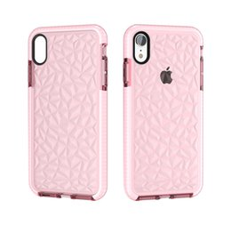 China ultra-thin and lightweight Clear Soft TPU Diamond Pattern Drop Protection Cases for Iphone 6 7 8 8plus x XS XR XS Max cheap clear iphone 6s plus cases pattern suppliers