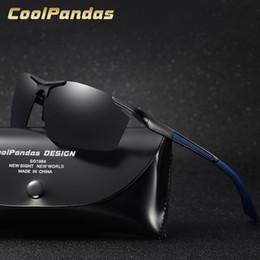 Homme Aluminium Polarized Driving Lunettes de soleil sport miroir Lunettes de soleil HD Eyewear