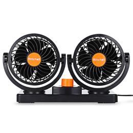 12v gear 2019 - 12V 24V Mini Electric Car Fan Low Noise Summer Car Air Conditioner 360 Degree Rotating 2 Gears Adjustable Car Fan Air Co