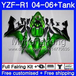 $enCountryForm.capitalKeyWord Australia - Body+Tank For YAMAHA YZF R 1 YZF-1000 YZF 1000 YZFR1 04 05 06 232HM.15 YZF1000 YZF-R1 04 06 YZF R1 2004 2005 2006 Green black frame Fairing