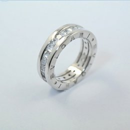 Роскошные кольца 925 посеребренные кольцо CZ Циркон письмо кольцо для женщин мужчины ювелирные изделия женские мужские любителей свадебный подарок