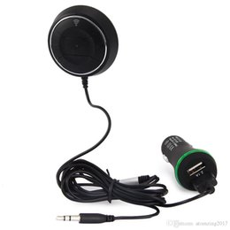 $enCountryForm.capitalKeyWord Australia - Wireless Car Kit Bluetooth V4.0 NFC AUX Music Audio Receiver Adapter Hands-free 3.5mm Built-in Microphone with Dual USB Charger