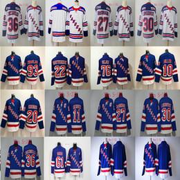 93 Mika Zibanejad Jersey 2018 New york Rangers 27 Ryan McDonagh 30 Henrik  Lundqvist 36 Mats Zuccarello 61 Rick Nash Hockey Jerseys Cheap 87983b30a