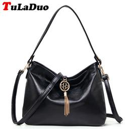 55e6c9d5aa Fashion Tassel Female Tote Bag Top-Handle Soft Hobo Bag Leather Shoulder Bags  Women Famous Designer Handbags Bolsas crossbody