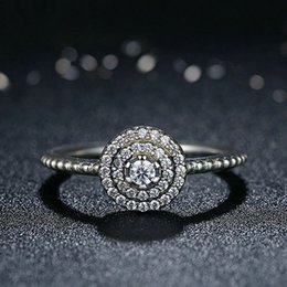 China Luxury Wholesale Jewelry NZ - 2018 925 sterling silver rings With zircon 925 sterling silver wedding rings luxury jewelry fit pandora