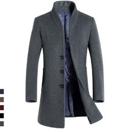 Wool Parka Men NZ - NEW 2018 High Quality Mens Long Wool Trench Coat Korean Men Slim fit Trench Parkas for Autumn C18111601