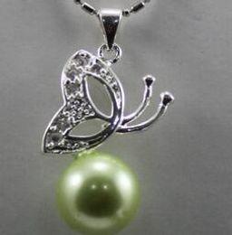 $enCountryForm.capitalKeyWord Australia - Free Shippinggrace lady' s light green shell pearl butterfly pendant necklace