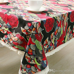$enCountryForm.capitalKeyWord NZ - Janpan Style Cotton Table Cloth national Bohemia Print Rectangle Coffee Table Cover ethnic Tablecloth toalha De Mesa ZB-29