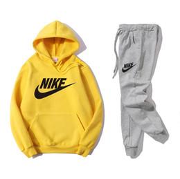 SweatSuit men online shopping - Men s women Coat IKE Sweatshirt Hoodies sportswear Casual Tracksuit Suit sport Jackets high quality Designer Tops pants suit sweatsuit