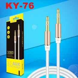 Gold plated audio online shopping - Jack mm Audio Cable Gold Plated Male to Male Aux Cable for iPhone Car Headphone Speaker Auxiliary Cord M