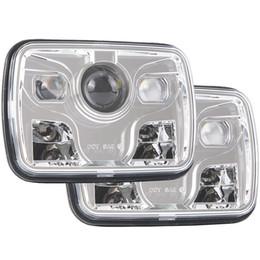 $enCountryForm.capitalKeyWord NZ - 5x7 DOT 7x6 inch LED Headlights with Cree Chip Headlamps Bulbs DRL Lights Set Kit Projector for Jeep Cherokee XJ Wrangler YJ Comanche MJ Toy