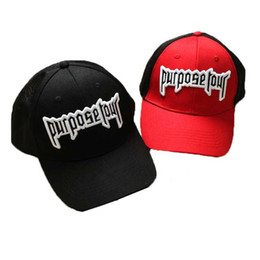 ed0d658a70979 High Quality Purpose Tour Embroidered Baseball Cap Vintage Retro Justin  Bieber Hat High Street Dark Tide Caps For Women And Men