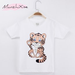 $enCountryForm.capitalKeyWord Canada - 2018 New Children T-shirt Cute Little Tiger Kawaii Cotton Child Shirts Kids Boy Short T Shirt Baby Clothing Girl Tops Tee Teens Clothes