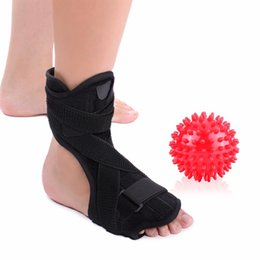 Ankle Supports Canada - Medical Foot Drop Ankle Splint Support + Spiky Massage Ball Plantar Fasciitis Dorsal Night Splint Foot Orthosis Stabilizer