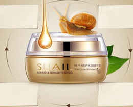 Wholesale DHL free BIOAQUA Natural Snail Essence Cream Facial Cream Moisturizer Whitening Skin Anti Aging Oil Control Shrink Pores Skin Care