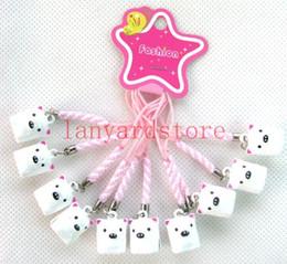 Strap Neko Australia - New lot ! whiteCute pig Small bell Neko Charm Lucky Cell Phone Strap Pendant Party gifts