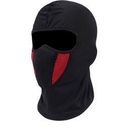 Wholesale Balaclava Moto Face Mask Motorcycle Tactical Airsoft Paintball Cycling Bike Ski Army Helmet Protection Full Face Mask