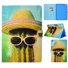 ipad air printed case Canada - Tablets Case For iPad Air Cover Fashion painting PU Leather Wallet Bag Card slot Dormancy function Tablet Cases For iPad Air 2