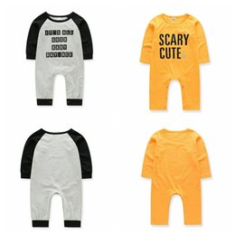 Discount toddler clothing sizes - Baby Boy Girls Clothes Set Toddler Letter Print Baby Jumpsuits Kids Long Sleeve Rompers Fashion Boy Girl Kid Clothing Ou